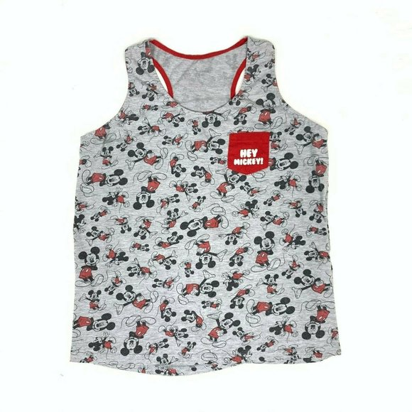 3/$25 Hey Mickey Mouse Tank Top Vest Chest pocket